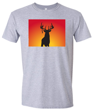 Load image into Gallery viewer, Short Sleeve T-Shirt Colorado Athletic Heather Whitetail Deer Vibrant Design High Quality Tight Knit Ring Spun Low Maintenance Cotton Printed With The Newest Available Color Transfer Technology