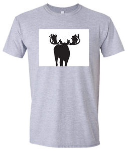 Short Sleeve T-Shirt Colorado Athletic Heather Moose Vibrant Design High Quality Tight Knit Ring Spun Low Maintenance Cotton Printed With The Newest Available Color Transfer Technology