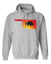 Load image into Gallery viewer, Pullover Hooded Sweatshirt Oklahoma Athletic Heather Wild Hog Vibrant Design High Quality Tight Knit Ring Spun Low Maintenance Cotton Printed With The Newest Available Color Transfer Technology