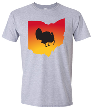 Load image into Gallery viewer, Short Sleeve T-Shirt Ohio Athletic Heather Turkey Vibrant Design High Quality Tight Knit Ring Spun Low Maintenance Cotton Printed With The Newest Available Color Transfer Technology