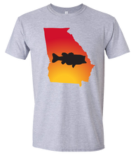 Load image into Gallery viewer, Short Sleeve T-Shirt Georgia Athletic Heather Large Mouth Bass Vibrant Design High Quality Tight Knit Ring Spun Low Maintenance Cotton Printed With The Newest Available Color Transfer Technology