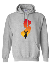 Load image into Gallery viewer, Pullover Hooded Sweatshirt New Jersey Athletic Heather Whitetail Deer Vibrant Design High Quality Tight Knit Ring Spun Low Maintenance Cotton Printed With The Newest Available Color Transfer Technology