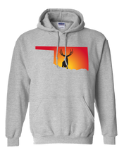 Load image into Gallery viewer, Pullover Hooded Sweatshirt Oklahoma Athletic Heather Mule Deer Vibrant Design High Quality Tight Knit Ring Spun Low Maintenance Cotton Printed With The Newest Available Color Transfer Technology