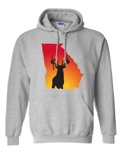Load image into Gallery viewer, Pullover Hooded Sweatshirt Georgia Athletic Heather Whitetail Deer Vibrant Design High Quality Tight Knit Ring Spun Low Maintenance Cotton Printed With The Newest Available Color Transfer Technology