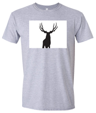 Load image into Gallery viewer, Short Sleeve T-Shirt Colorado Athletic Heather Mule Deer Vibrant Design High Quality Tight Knit Ring Spun Low Maintenance Cotton Printed With The Newest Available Color Transfer Technology