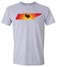 Load image into Gallery viewer, Short Sleeve T-Shirt Tennessee Athletic Heather Turkey Vibrant Design High Quality Tight Knit Ring Spun Low Maintenance Cotton Printed With The Newest Available Color Transfer Technology