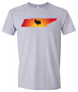 Short Sleeve T-Shirt Tennessee Athletic Heather Turkey Vibrant Design High Quality Tight Knit Ring Spun Low Maintenance Cotton Printed With The Newest Available Color Transfer Technology