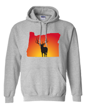 Load image into Gallery viewer, Pullover Hooded Sweatshirt Oregon Athletic Heather Elk Vibrant Design High Quality Tight Knit Ring Spun Low Maintenance Cotton Printed With The Newest Available Color Transfer Technology