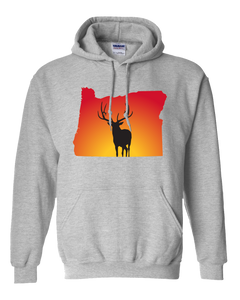 Pullover Hooded Sweatshirt Oregon Athletic Heather Elk Vibrant Design High Quality Tight Knit Ring Spun Low Maintenance Cotton Printed With The Newest Available Color Transfer Technology