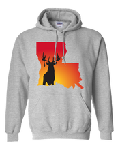 Load image into Gallery viewer, Pullover Hooded Sweatshirt Louisiana Athletic Heather Whitetail Deer Vibrant Design High Quality Tight Knit Ring Spun Low Maintenance Cotton Printed With The Newest Available Color Transfer Technology
