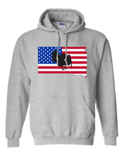 Load image into Gallery viewer, Pullover Hooded Sweatshirt South Dakota Athletic Heather Turkey Vibrant Design High Quality Tight Knit Ring Spun Low Maintenance Cotton Printed With The Newest Available Color Transfer Technology