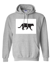 Load image into Gallery viewer, Pullover Hooded Sweatshirt Colorado Athletic Heather Mountain Lion Vibrant Design High Quality Tight Knit Ring Spun Low Maintenance Cotton Printed With The Newest Available Color Transfer Technology