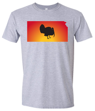 Load image into Gallery viewer, Short Sleeve T-Shirt Kansas Athletic Heather Turkey Vibrant Design High Quality Tight Knit Ring Spun Low Maintenance Cotton Printed With The Newest Available Color Transfer Technology