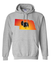 Load image into Gallery viewer, Pullover Hooded Sweatshirt Nebraska Athletic Heather Turkey Vibrant Design High Quality Tight Knit Ring Spun Low Maintenance Cotton Printed With The Newest Available Color Transfer Technology