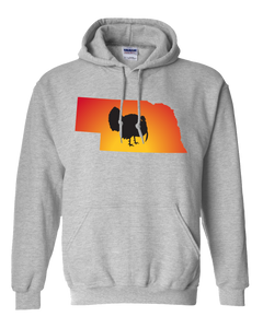 Pullover Hooded Sweatshirt Nebraska Athletic Heather Turkey Vibrant Design High Quality Tight Knit Ring Spun Low Maintenance Cotton Printed With The Newest Available Color Transfer Technology