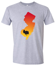 Load image into Gallery viewer, Short Sleeve T-Shirt New Jersey Athletic Heather Turkey Vibrant Design High Quality Tight Knit Ring Spun Low Maintenance Cotton Printed With The Newest Available Color Transfer Technology