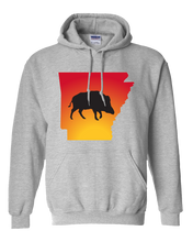 Load image into Gallery viewer, Pullover Hooded Sweatshirt Arkansas Athletic Heather Wild Hog Vibrant Design High Quality Tight Knit Ring Spun Low Maintenance Cotton Printed With The Newest Available Color Transfer Technology