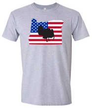 Load image into Gallery viewer, Short Sleeve T-Shirt Oregon Athletic Heather Turkey Vibrant Design High Quality Tight Knit Ring Spun Low Maintenance Cotton Printed With The Newest Available Color Transfer Technology