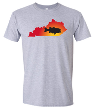 Load image into Gallery viewer, Short Sleeve T-Shirt Kentucky Athletic Heather Large Mouth Bass Vibrant Design High Quality Tight Knit Ring Spun Low Maintenance Cotton Printed With The Newest Available Color Transfer Technology