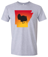 Load image into Gallery viewer, Short Sleeve T-Shirt Arkansas Athletic Heather Turkey Vibrant Design High Quality Tight Knit Ring Spun Low Maintenance Cotton Printed With The Newest Available Color Transfer Technology
