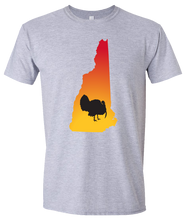 Load image into Gallery viewer, Short Sleeve T-Shirt New Hampshire Athletic Heather Turkey Vibrant Design High Quality Tight Knit Ring Spun Low Maintenance Cotton Printed With The Newest Available Color Transfer Technology