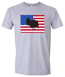 Short Sleeve T-Shirt Colorado Athletic Heather Turkey Vibrant Design High Quality Tight Knit Ring Spun Low Maintenance Cotton Printed With The Newest Available Color Transfer Technology