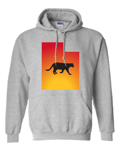 Pullover Hooded Sweatshirt Utah Athletic Heather Mountain Lion Vibrant Design High Quality Tight Knit Ring Spun Low Maintenance Cotton Printed With The Newest Available Color Transfer Technology