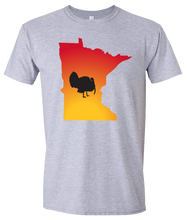 Load image into Gallery viewer, Short Sleeve T-Shirt Minnesota Athletic Heather Turkey Vibrant Design High Quality Tight Knit Ring Spun Low Maintenance Cotton Printed With The Newest Available Color Transfer Technology