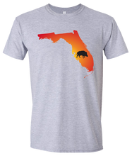 Load image into Gallery viewer, Short Sleeve T-Shirt Florida Athletic Heather Wild Hog Vibrant Design High Quality Tight Knit Ring Spun Low Maintenance Cotton Printed With The Newest Available Color Transfer Technology