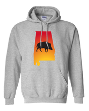 Load image into Gallery viewer, Pullover Hooded Sweatshirt Alabama Athletic Heather Wild Hog Vibrant Design High Quality Tight Knit Ring Spun Low Maintenance Cotton Printed With The Newest Available Color Transfer Technology
