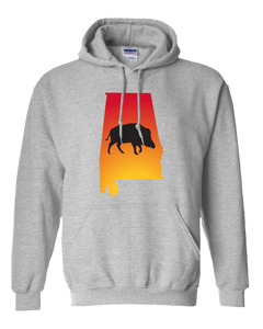 Pullover Hooded Sweatshirt Alabama Athletic Heather Wild Hog Vibrant Design High Quality Tight Knit Ring Spun Low Maintenance Cotton Printed With The Newest Available Color Transfer Technology
