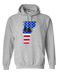 Pullover Hooded Sweatshirt Vermont Athletic Heather Turkey Vibrant Design High Quality Tight Knit Ring Spun Low Maintenance Cotton Printed With The Newest Available Color Transfer Technology
