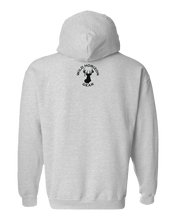 Load image into Gallery viewer, Pullover Hooded Sweatshirt Maine Athletic Heather Moose Vibrant Design High Quality Tight Knit Ring Spun Low Maintenance Cotton Printed With The Newest Available Color Transfer Technology