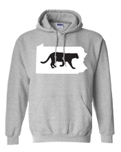 Load image into Gallery viewer, Pullover Hooded Sweatshirt Pennsylvania Athletic Heather Mountain Lion Vibrant Design High Quality Tight Knit Ring Spun Low Maintenance Cotton Printed With The Newest Available Color Transfer Technology