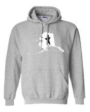 Load image into Gallery viewer, Pullover Hooded Sweatshirt Alaska Athletic Heather Brown Bear Vibrant Design High Quality Tight Knit Ring Spun Low Maintenance Cotton Printed With The Newest Available Color Transfer Technology