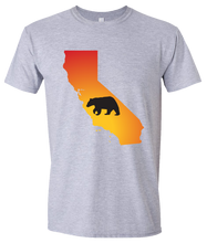Load image into Gallery viewer, Short Sleeve T-Shirt California Athletic Heather Black Bear Vibrant Design High Quality Tight Knit Ring Spun Low Maintenance Cotton Printed With The Newest Available Color Transfer Technology