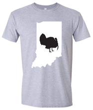 Load image into Gallery viewer, Short Sleeve T-Shirt Indiana Athletic Heather Turkey Vibrant Design High Quality Tight Knit Ring Spun Low Maintenance Cotton Printed With The Newest Available Color Transfer Technology