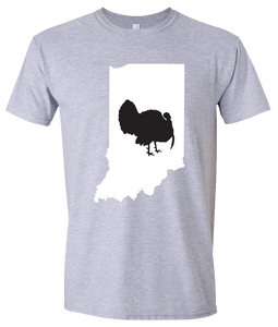 Short Sleeve T-Shirt Indiana Athletic Heather Turkey Vibrant Design High Quality Tight Knit Ring Spun Low Maintenance Cotton Printed With The Newest Available Color Transfer Technology
