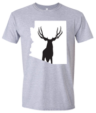 Load image into Gallery viewer, Short Sleeve T-Shirt Arizona Athletic Heather Mule Deer Vibrant Design High Quality Tight Knit Ring Spun Low Maintenance Cotton Printed With The Newest Available Color Transfer Technology