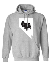 Load image into Gallery viewer, Pullover Hooded Sweatshirt Nevada Athletic Heather Turkey Vibrant Design High Quality Tight Knit Ring Spun Low Maintenance Cotton Printed With The Newest Available Color Transfer Technology