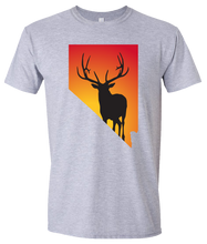 Load image into Gallery viewer, Short Sleeve T-Shirt Nevada Athletic Heather Elk Vibrant Design High Quality Tight Knit Ring Spun Low Maintenance Cotton Printed With The Newest Available Color Transfer Technology