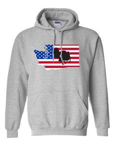 Pullover Hooded Sweatshirt Washington Athletic Heather Turkey Vibrant Design High Quality Tight Knit Ring Spun Low Maintenance Cotton Printed With The Newest Available Color Transfer Technology