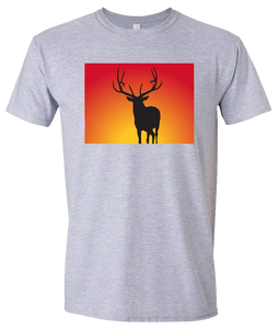 Short Sleeve T-Shirt Colorado Athletic Heather Elk Vibrant Design High Quality Tight Knit Ring Spun Low Maintenance Cotton Printed With The Newest Available Color Transfer Technology