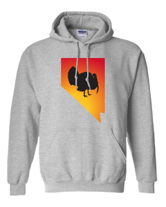 Pullover Hooded Sweatshirt Nevada Athletic Heather Turkey Vibrant Design High Quality Tight Knit Ring Spun Low Maintenance Cotton Printed With The Newest Available Color Transfer Technology
