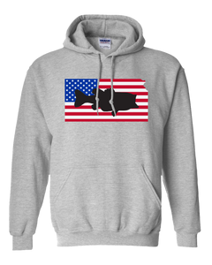 Pullover Hooded Sweatshirt Kansas Athletic Heather Large Mouth Bass Vibrant Design High Quality Tight Knit Ring Spun Low Maintenance Cotton Printed With The Newest Available Color Transfer Technology