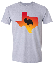 Load image into Gallery viewer, Short Sleeve T-Shirt Texas Athletic Heather Turkey Vibrant Design High Quality Tight Knit Ring Spun Low Maintenance Cotton Printed With The Newest Available Color Transfer Technology