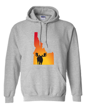 Load image into Gallery viewer, Pullover Hooded Sweatshirt Idaho Athletic Heather Moose Vibrant Design High Quality Tight Knit Ring Spun Low Maintenance Cotton Printed With The Newest Available Color Transfer Technology