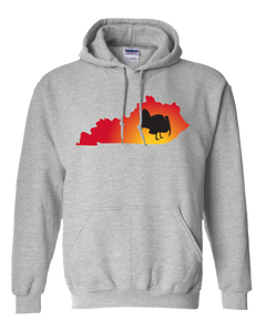 Pullover Hooded Sweatshirt Kentucky Athletic Heather Turkey Vibrant Design High Quality Tight Knit Ring Spun Low Maintenance Cotton Printed With The Newest Available Color Transfer Technology