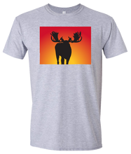 Load image into Gallery viewer, Short Sleeve T-Shirt Colorado Athletic Heather Moose Vibrant Design High Quality Tight Knit Ring Spun Low Maintenance Cotton Printed With The Newest Available Color Transfer Technology