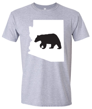 Load image into Gallery viewer, Short Sleeve T-Shirt Arizona Athletic Heather Black Bear Vibrant Design High Quality Tight Knit Ring Spun Low Maintenance Cotton Printed With The Newest Available Color Transfer Technology